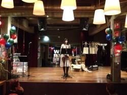 Amarantha Groen met poëzie in de Lindenberg