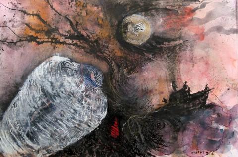 4. Schilderij 'Vaarwel'
