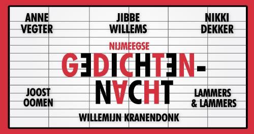 Gedichtennacht op 25/1 met o.a. Anne Vegter, Jibbe Willems en Willemijn Kranendonk